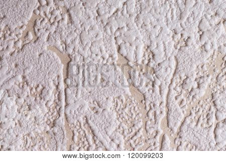 plastered wall, foam on paper - texture
