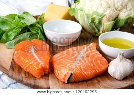Fillet  Salmon with fresh herbs