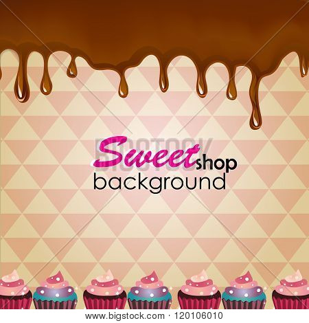 vector holiday background with chocolate stains