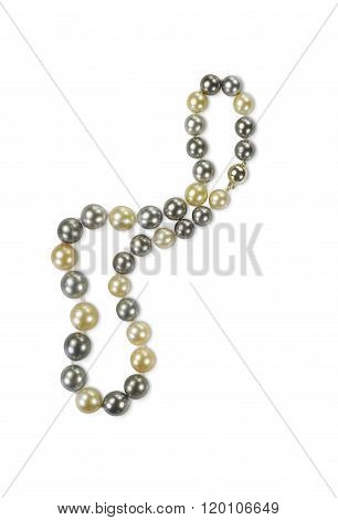 multi colored pearl necklace