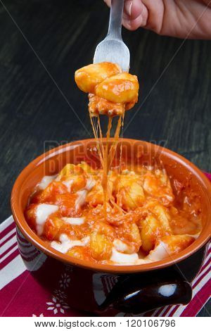 Gnocchi With Tomatoes Sauce And Cheese, Sorrento Recipe