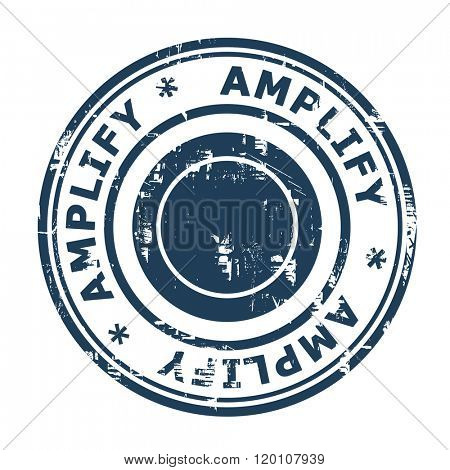 Amplify business concept stamp isolated on a white background.
