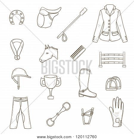 Horse riding objects