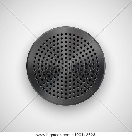 Black Abstract Circle Button Template