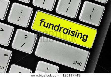 Keyboard  Button Written Word Fundraising