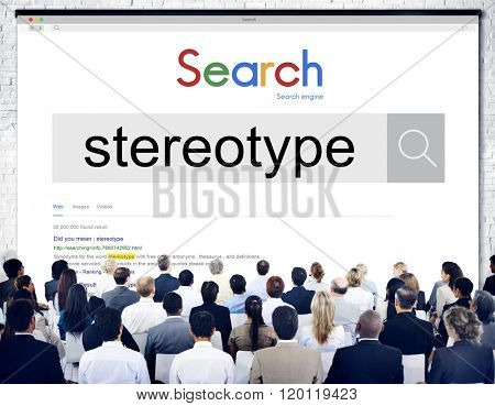 Stereotype Belief Bias Prejudice Discrimination Perception Concept