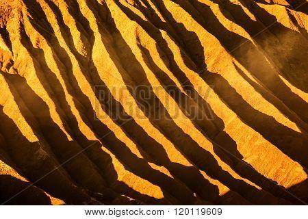 Texture Of Bromo Vocalno, East Java, Indonesia