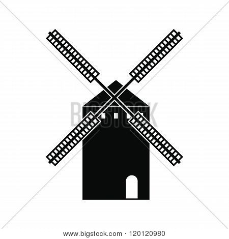 Spanish windmill icon, simple style