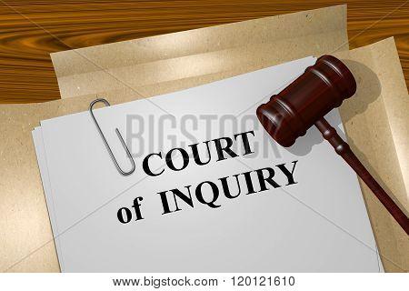 Court Of Inquiry Concept