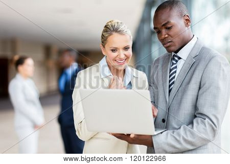 successful business team using laptop