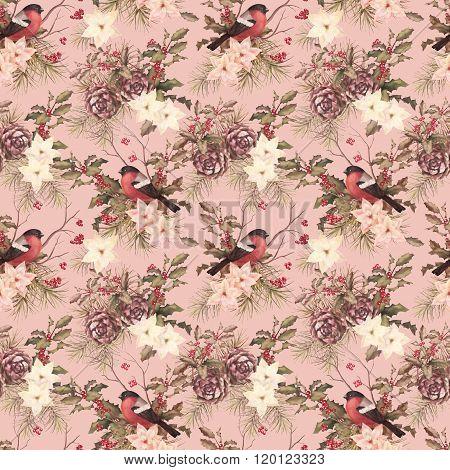 Christmas retro seamless pattern