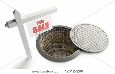 For Sale Street Manhole Open