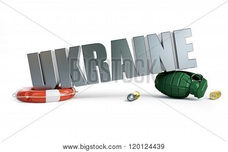 War Ukraine 3D Illustrations On A White Background