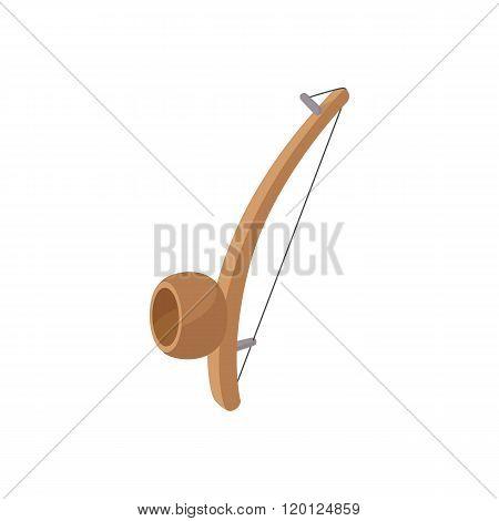 Berimbau, percussion instrument icon, cartoon style