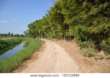 dirt road in country Thailand