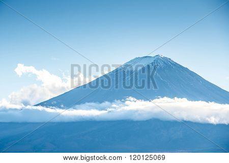 Mount Fuji With Beautiful Cloud
