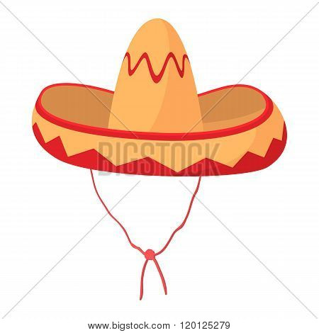 Sombrero icon, cartoon style