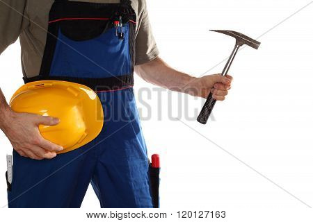 Working Man With Hammer