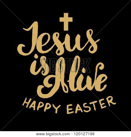 Jesus Is Alive. Happy Easter.