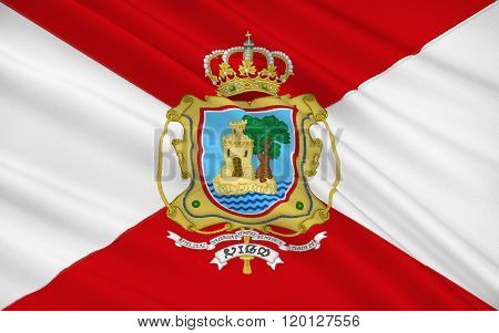 Flag Of Vigo Is A City In The Province Of Pontevedra, In Galicia, North-west Spain.