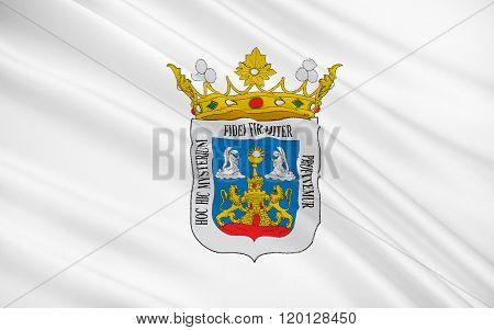 Flag Of Lugo Is A City In Northwestern Spain In The Autonomous Community Of Galicia