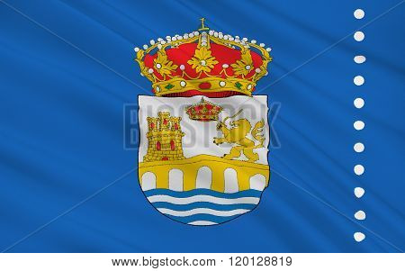 Flag Of Ourenseis A City In Northwestern Spain, The Capital Of The Province Of The Same Name In Gali