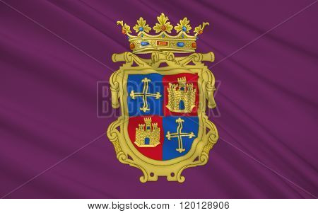 Flag Of Palencia Is A City Of Northern Spain