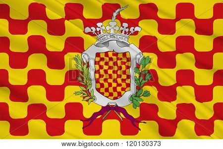 Flag Of Tarragona Is The Capital Of The Tarragona Province Of Eastern Spain