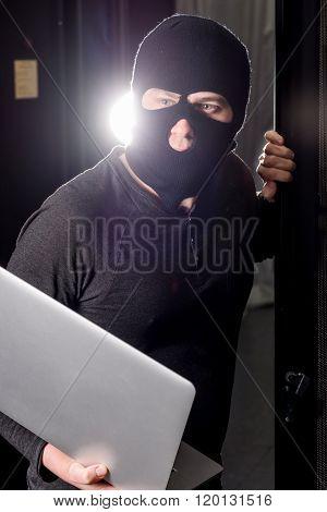 Hacker in a datacenter
