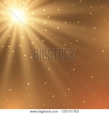 Abstract background - fiery star
