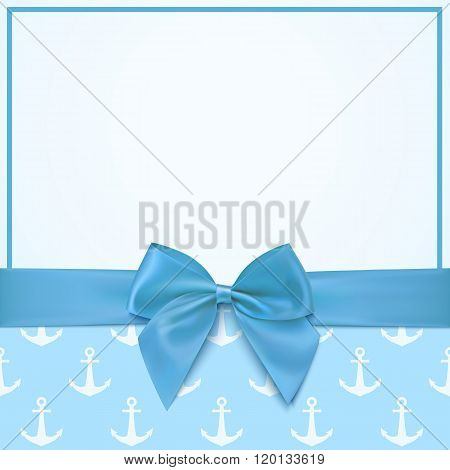 Blank greeting card template for a boy.
