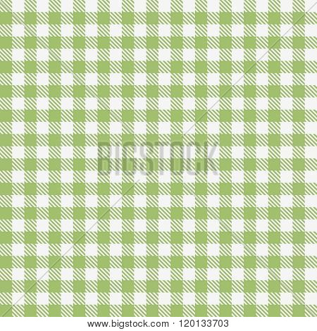 Green checkered tablecloths pattern