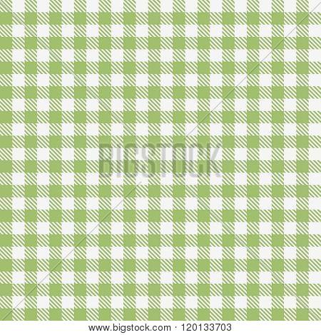 Green checkered tablecloths pattern
