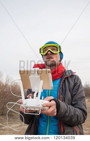 Bearded Funny Man With Remote Controller
