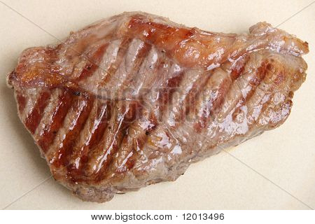 Seasoned sirloin beef steak