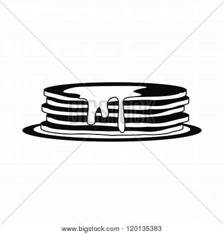 Stack of pancakes icon, simple style