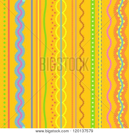 Hand drawn ethnic african pattern, tribal style. Seamless vector ornament or texture.