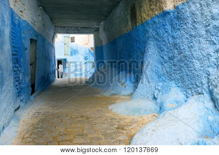 Architectural detail in the medina of Chefchaouen, Morocco, Africa