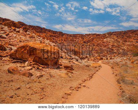Dry landscape in Twyfelfontein area