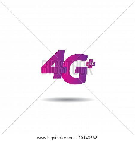 4G Internet Vector Logo Template