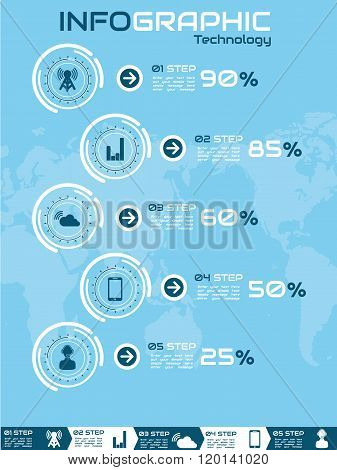 Infographic Ranking Tecnology Blue