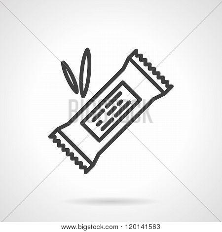 Energy bar black line design vector icon