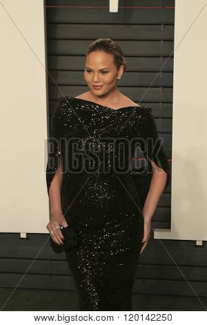 LOS ANGELES - FEB 28:  Chrissy Teigen at the 2016 Vanity Fair Oscar Party at the Wallis Annenberg Center for the Performing Arts on February 28, 2016 in Beverly Hills, CA