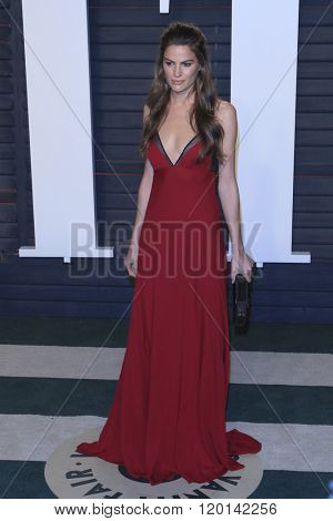 LOS ANGELES - FEB 28:  Cameron Russell at the 2016 Vanity Fair Oscar Party at the Wallis Annenberg Center for the Performing Arts on February 28, 2016 in Beverly Hills, CA