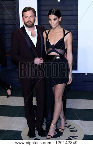 LOS ANGELES - FEB 28:  Caleb Followill, Lily Aldridge at the 2016 Vanity Fair Oscar Party at the Wallis Annenberg Center for the Performing Arts on February 28, 2016 in Beverly Hills, CA