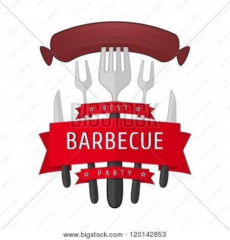 Emblem BBQ vector.