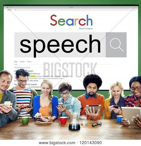 Speech Pronunciation Speaking Communication Discussion Concept