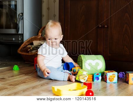 Baby playing and discovery