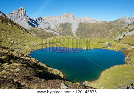 Ansabere Lake. Lescun Cirque. Aspe Valley, Pyrenees, France.