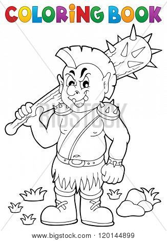 Coloring book orc theme 1 - eps10 vector illustration.